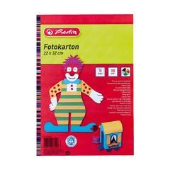 Картон цветной, 22х32см, 10л, 270 г/см2