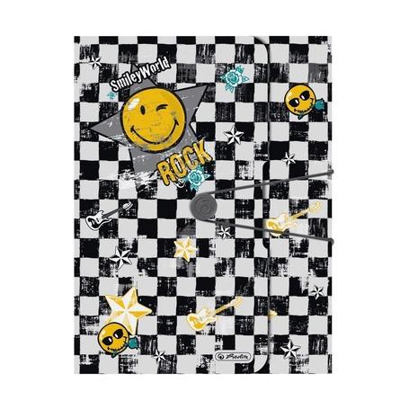 Папка с резинкой SmileyWorld Rock to go, А4