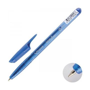 Ручка шариковая одноразовая Maped GREEN ICE, 0,6мм, 4шт