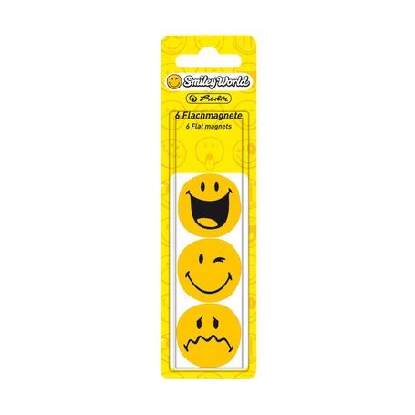 Магнит SmileyWorld, диам. 24мм., прижимная сила - 3 листа А4, 6шт, блистер