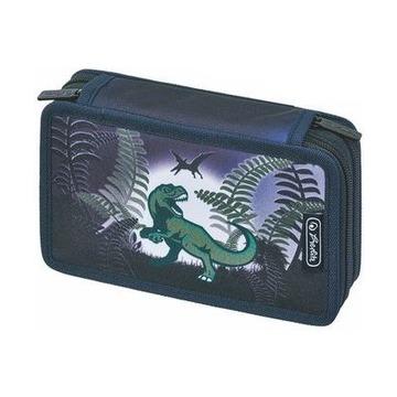 Пенал Dino Jungle, 2 молнии, 23 предмета