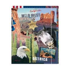 Папка с резинками WILD AMERICA