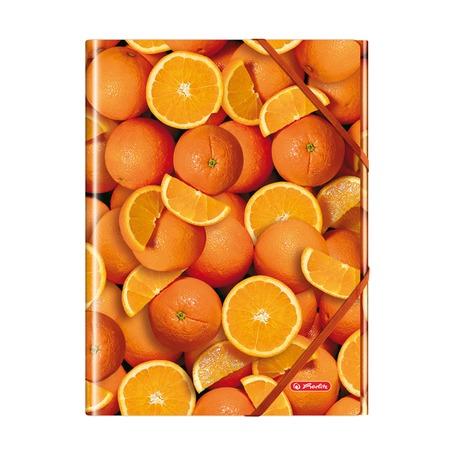 Папка с резинками Апельсин