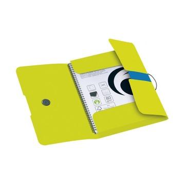 Папка с резинками COLOUR BLOCKING желтый