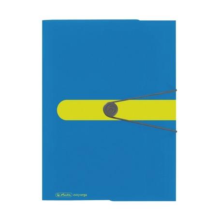 Папка с резинками COLOUR BLOCKING синий