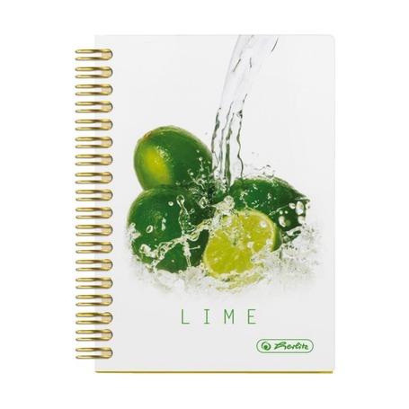 Блокнот Fresh Fruit лайм, А6, 100л, клетка, 70g/m²