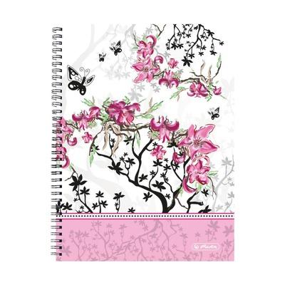 Тетрадь Ladylike Bloom, А4, 70л, клетка, 70g/m²