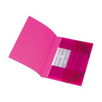 Папка с резинками, А4, малиновая