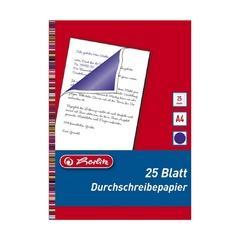Бумага копировальная Herlitz, А4, 25л, синяя