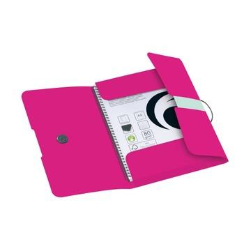 Папка с резинкой Colour Blocking А4, розовая