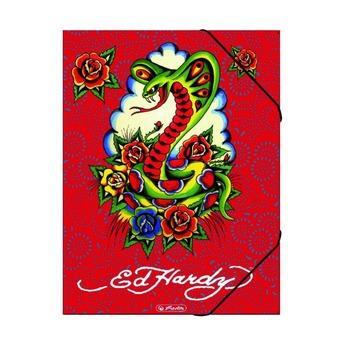 Папка с резинками Ed Hardy, A4 XL, картон