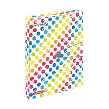 Папка с резинкой Smiley Rainbow, А4