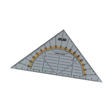 Треугольник с транспортиром, 14см