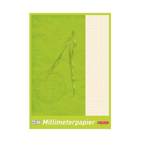 Блокнот миллиметровка Herlitz, А4, 25л