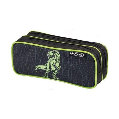 Пенал Green Dino 2 молнии