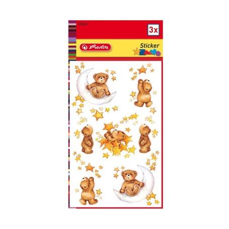 Объёмные стикеры Медвежата