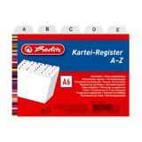 Разделители для картотек, А6, А-Z, пластик