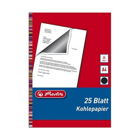 Бумага копировальная, чёрная, А4, 25 листов