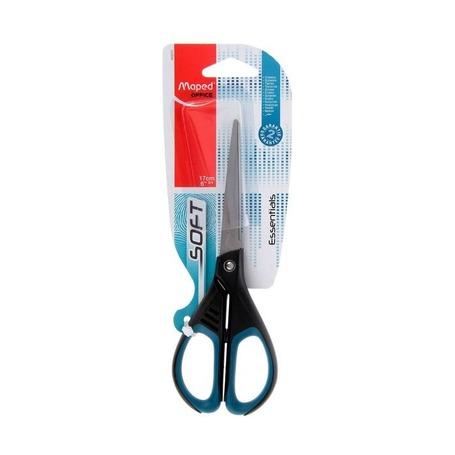 Ножницы Maped Essentials Soft с прорезиненными ручками, 17 см
