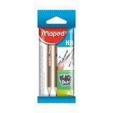 Карандаши чернографитные Maped Blackpep`s Mini, HB, 3 шт