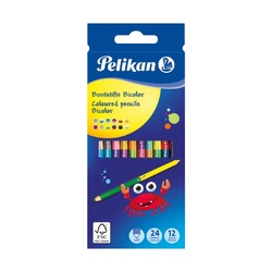 Цветные карандаши Pelikan, 24 цвета, 12 шт.