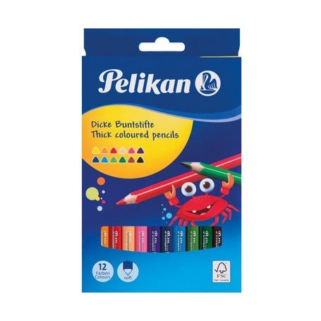 Цветные карандаши Pelikan, 12 цветов, 4 мм