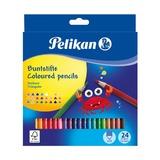 Карандаши трехгранные цветные Pelikan, 24 цветов