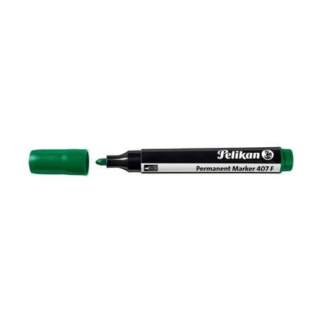 Маркер перманентный Pelikan 407 F, зеленый