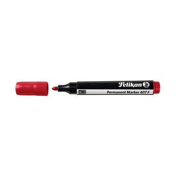 Маркер перманентный Pelikan 407 F, красный