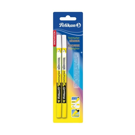Текстовыделитель пиши-стирай Pelikan Erasable 456, жёлтый, 2 шт.