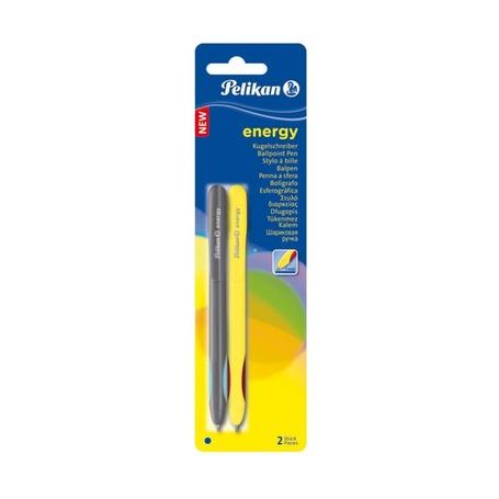 Ручка шариковая Pelikan Energy, синие, 2 шт.