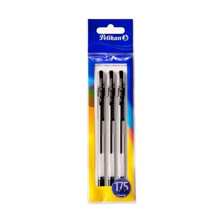 Ручки гелевые Pelikan Soft Gel, черные, 3 шт.