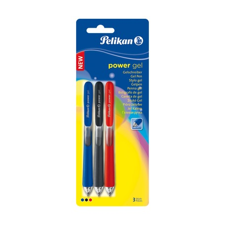 Ручка гелевая Pelikan Power Gel, 3 шт.