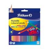 Карандаши цветные Pelikan, шестигранные, 24 цв, 3 мм