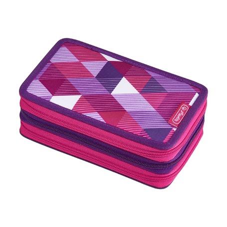 Пенал Pink Cube, 3 молнии, 31 предмет