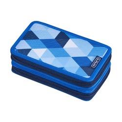 Пенал Blue Cubes, 3 молнии, 31 предмет