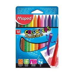 Мел цветной Maped ​Color'peps Plasticlean, 12 шт.