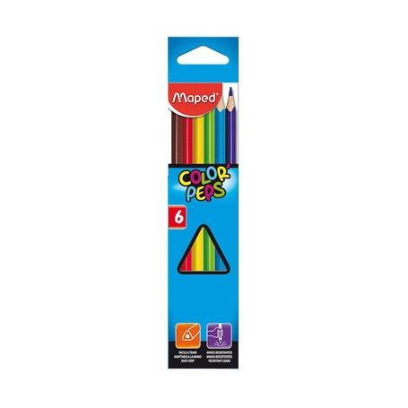 Цветные карандаши Maped Trio, 6 шт.