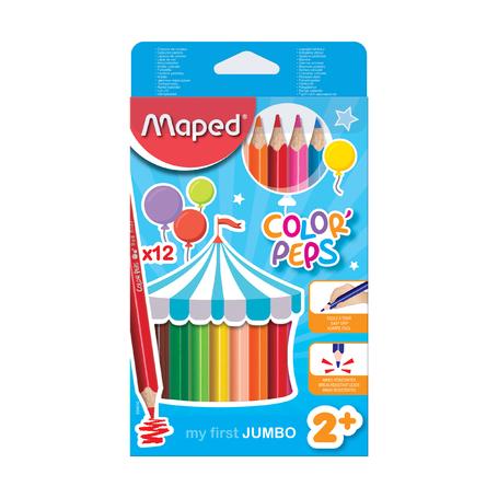 Цветные карандаши Maped Color'peps Jumbo, 12 шт.