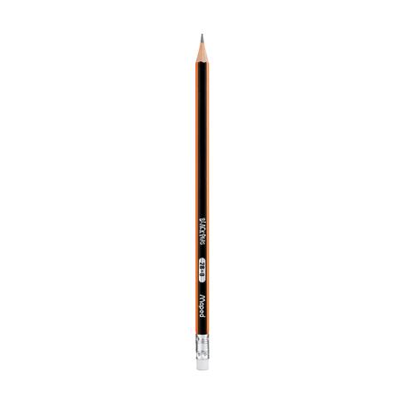 Чернографитный карандаш Maped 2B с ластиком, 1 шт.