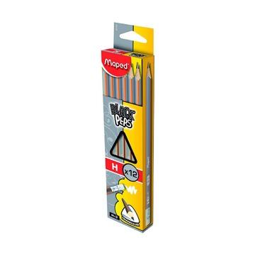 Чернографитный карандаш Maped H с ластиком, 1 шт.