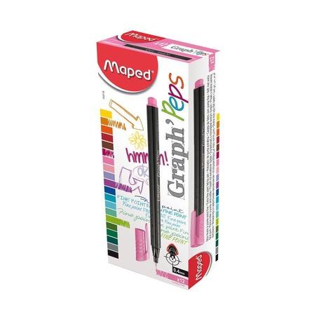 Капиллярная ручка Maped Graph Peps, розовая, без упаковки
