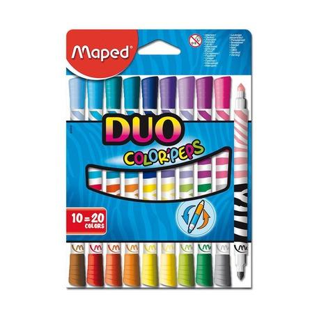 Фломастеры Maped Duo Color'Peps, 10 шт.