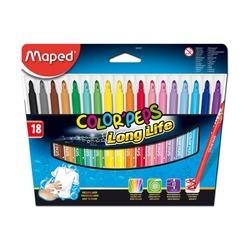 Фломастеры Color'Peps Long Life, 18 цв.