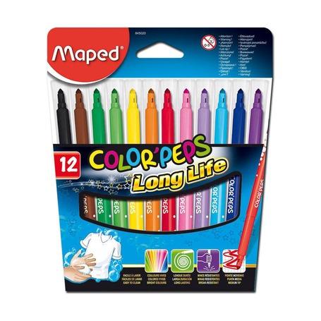Фломастеры Maped Color'Peps Long Line, 12 цв.