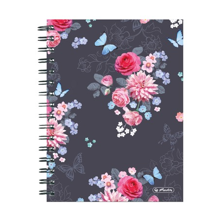 Блокнот Ladylike Flowers, A5, 100 листов, клетка