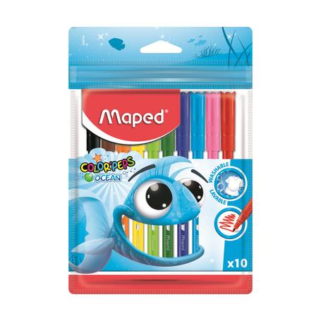 Фломастеры Maped Color`Peps Ocean, суперсмываемые, 10 шт