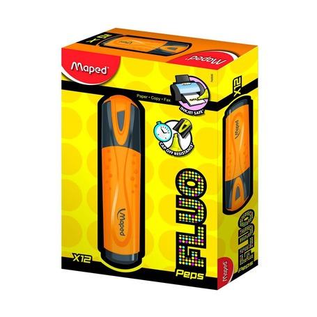 Текстовыделители Fluo Pep's, оранжевый, дисплей