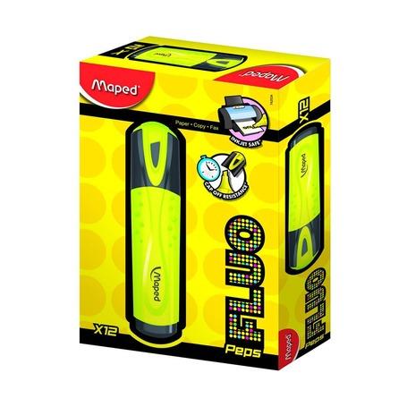 Текстовыделители Fluo Pep's, желтый, дисплей