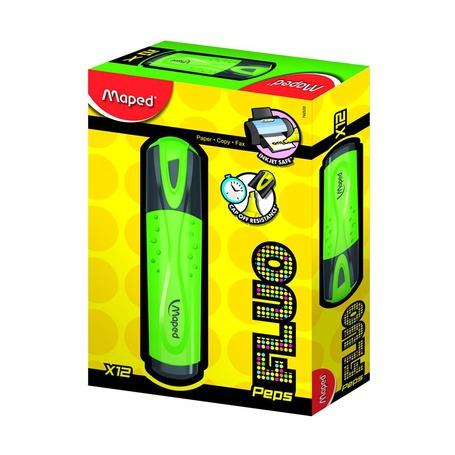 Текстовыделители Fluo Pep's, зеленый, дисплей